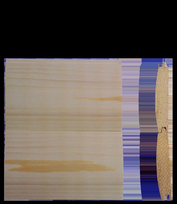 22mm Tongue & Grove Log Lap Cladding